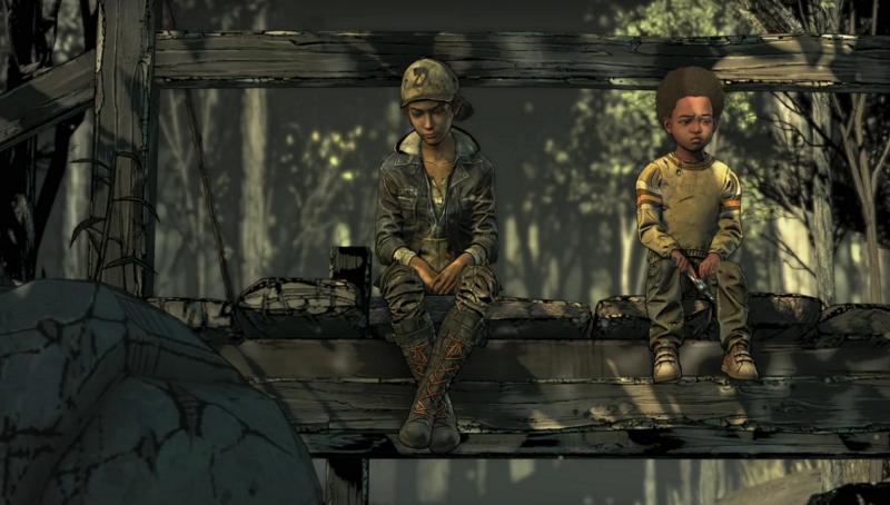 Telltale's The Walking Dead: The Final Season Clem et AJ