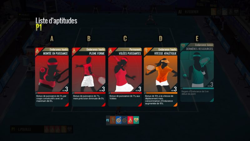 Test Tennis World Tour - Cartes de compétences