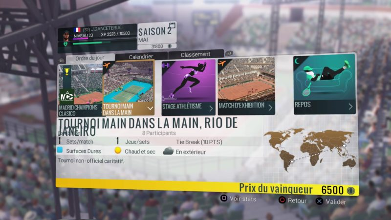 Test Tennis World Tour - bug d'intégration de texte
