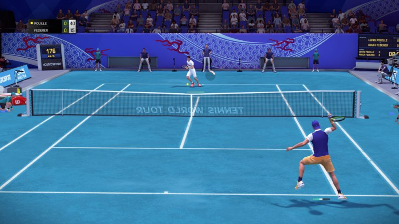 Test Tennis World Tour - match Federer VS Pouille