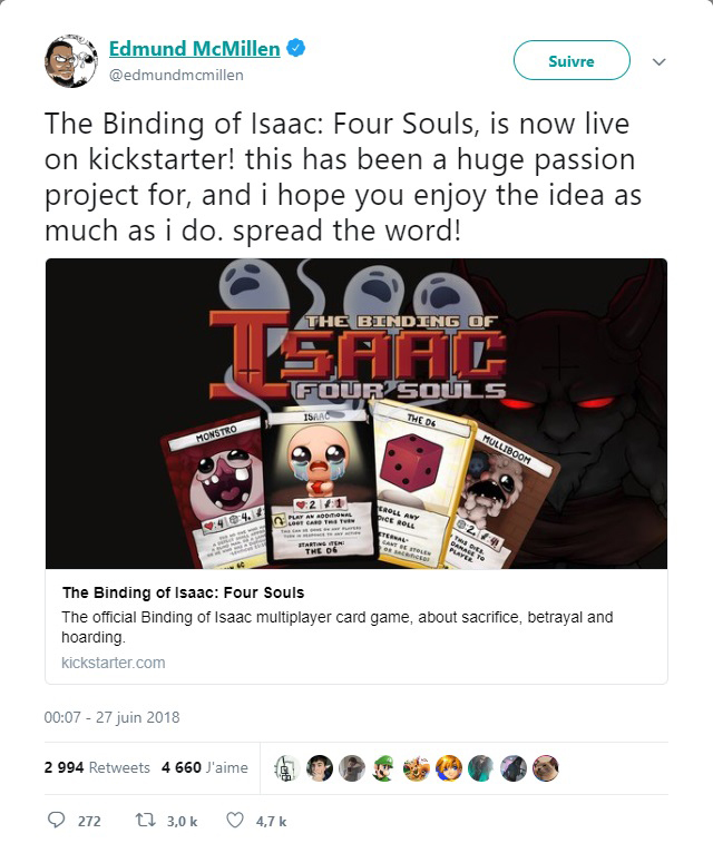The Binding of Isaac: Four Souls Twitter