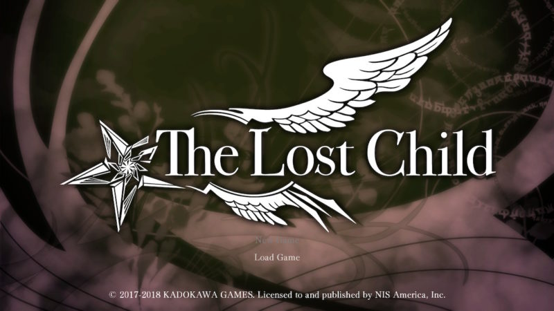 The Lost Child - Ecran titre