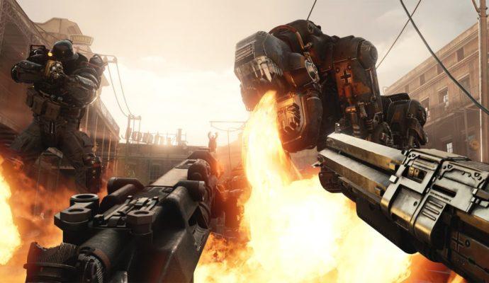 Wolfenstein: Cyberpilot lance flamme