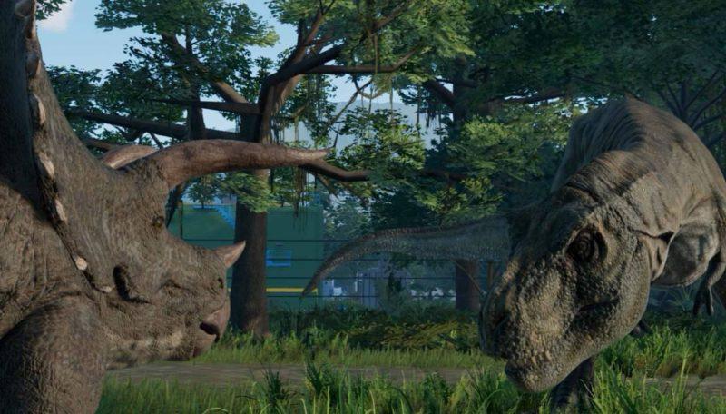 Jurassic World: Evolution Triceratops vs Tyrannosaurus Rex