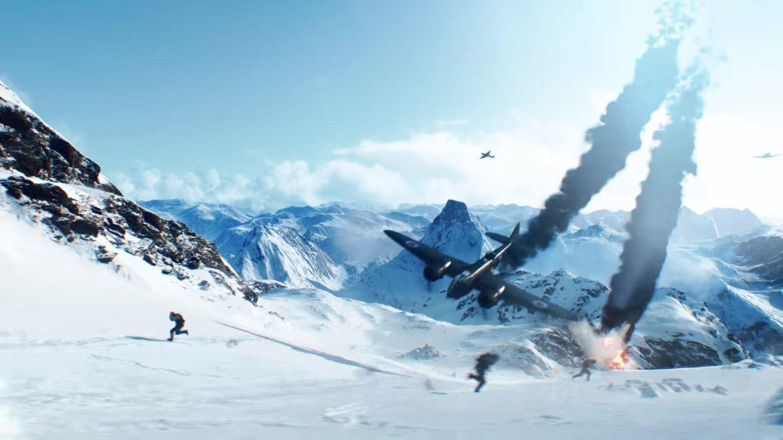 battlefield V avion qui s'écrase