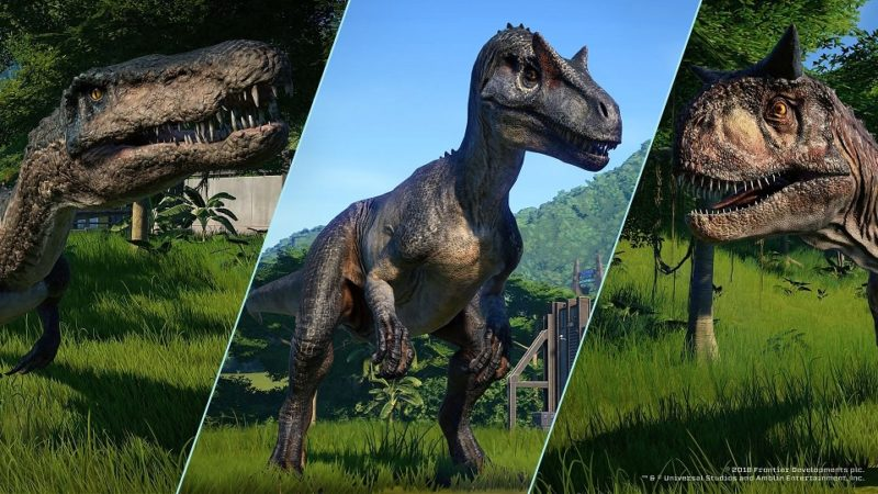 Jurassic World: Evolution carnivores