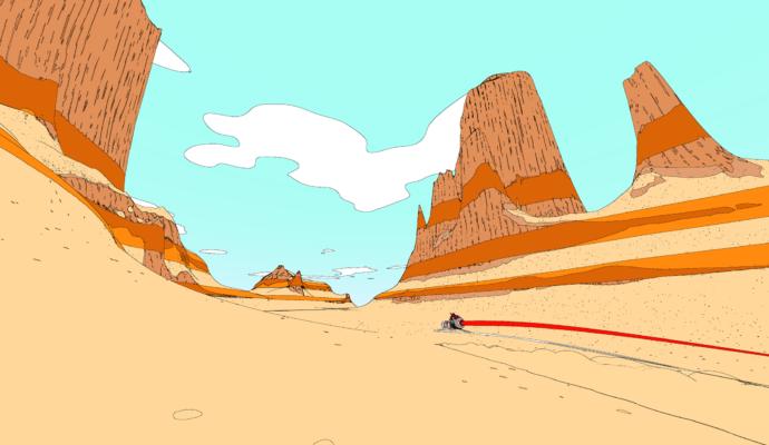 Sable désert aéroglisseur
