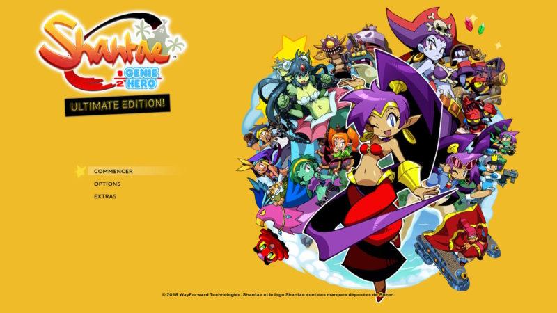 Shantae: Half-Genie Hero Ultimate Edition - Title Screen