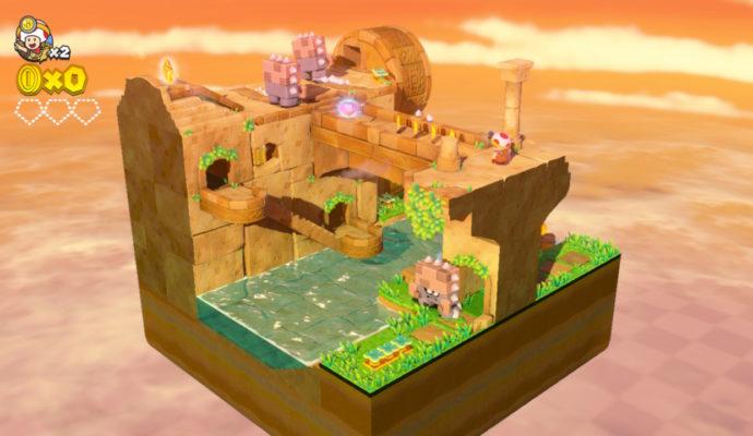 Captain Toad Treasure Tracker - Premiers niveaux