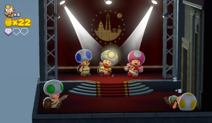 Cpatain Toad Treasure Tracker - La dance de Toad et Toadette