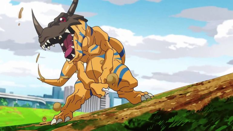 Digimon Survive - Greymon anime