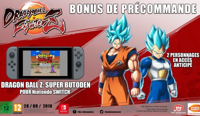 Dragon Ball FighterZ - bonus de précommande