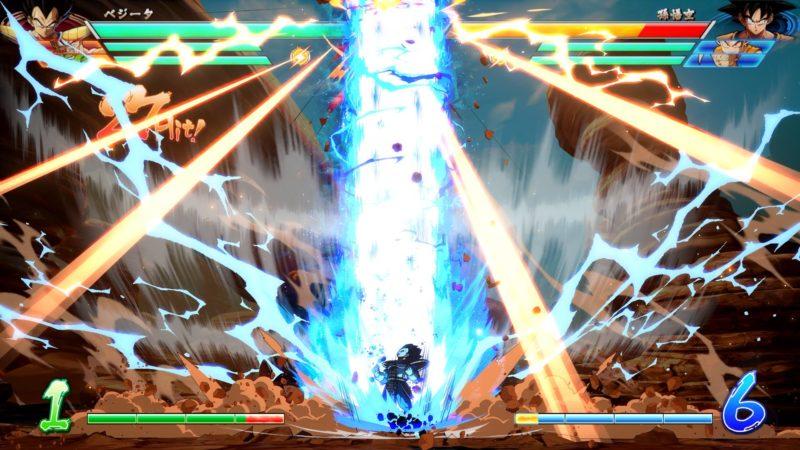 Dragon Ball FighterZ - Vegeta projette son galaxy breaker