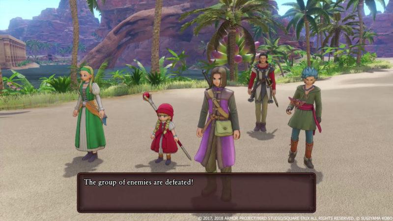 Dragon Quest XI fin de combat