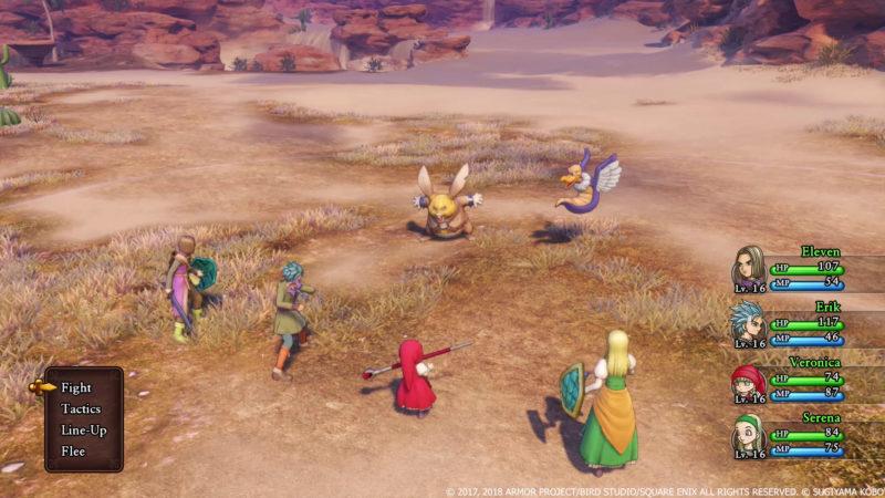 Dragon Quest XI combat