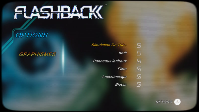 Flashback 25th Anniversary - paramètres graphiques