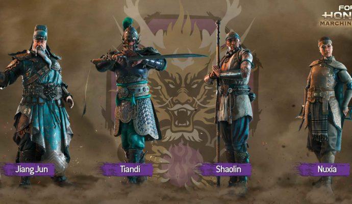 Noms des personnages de la nouvelle faction de For Honor