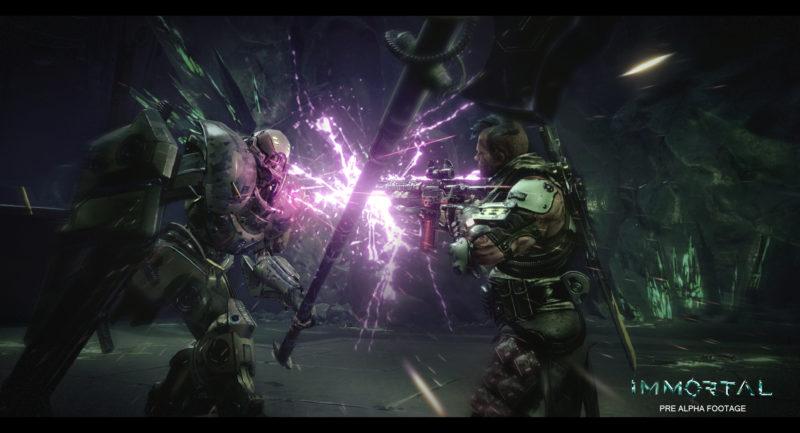 Immortal Unchained : deux hommes en combat au c-à-c