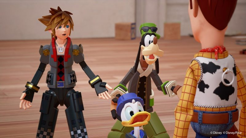 Kingdom Hearts III Sora, Donald et Dingo rencontrent Woody