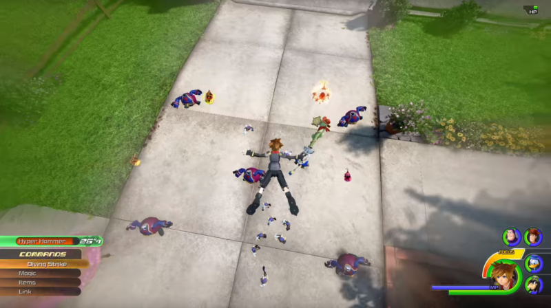 Kingdom Hearts III combat