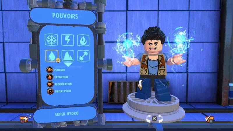 Lego Les Indestructibles créer son personnage. Là, c'est Nathan Drake