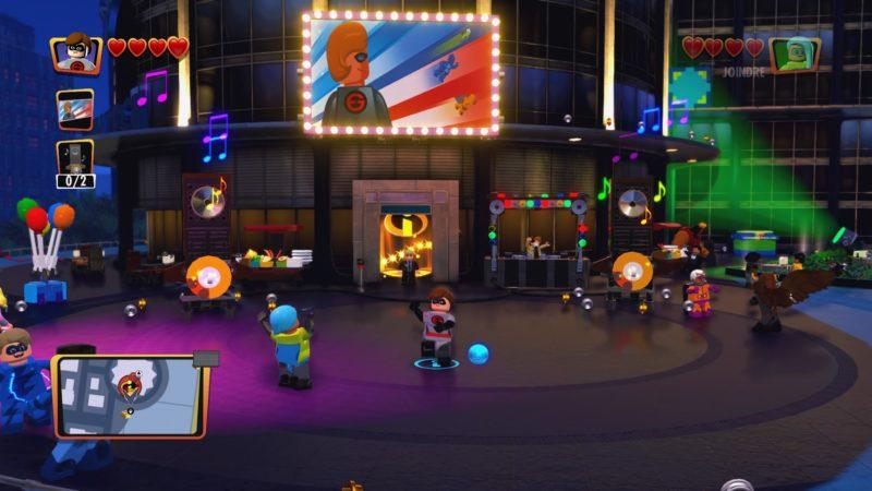 Lego Les Indestructibles Elastigirl et Vortex sur le dancefloor
