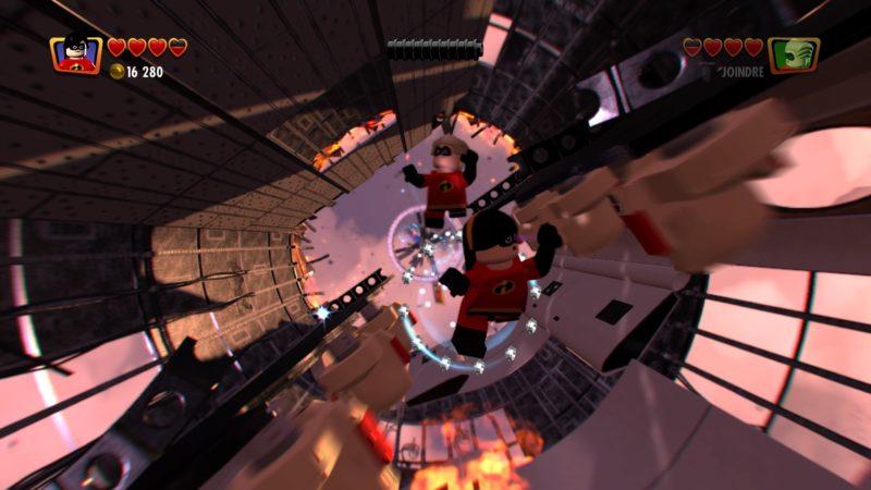 Lego Les Indestructibles chute libre