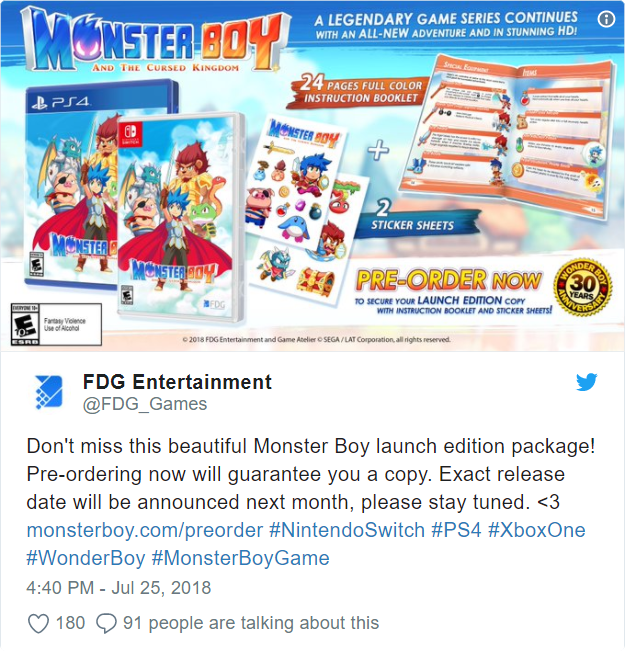 Monster Boy and the Cursed Kingdom - Edition collector