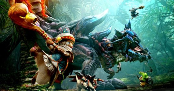 Monster Hunter Generations Ultimate - palico contre Glaviolus