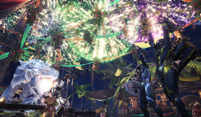 Monster Hunter World Festival d'été feux d'artifice