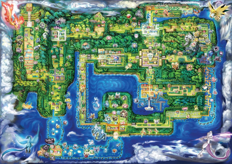 Pokémon: Let's Go, Pikachu ! La carte de Kanto