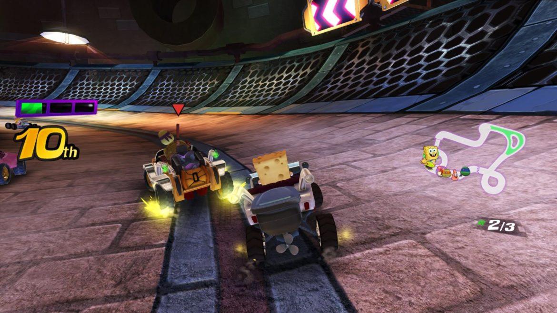 Nickelodeon Kart Racers - Bob l'éponge dans les égouts