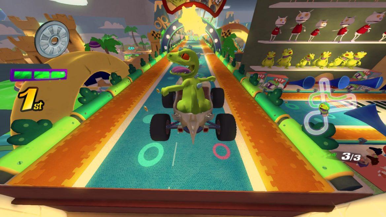 Nickelodeon Kart Racers - T'rex fait du kart