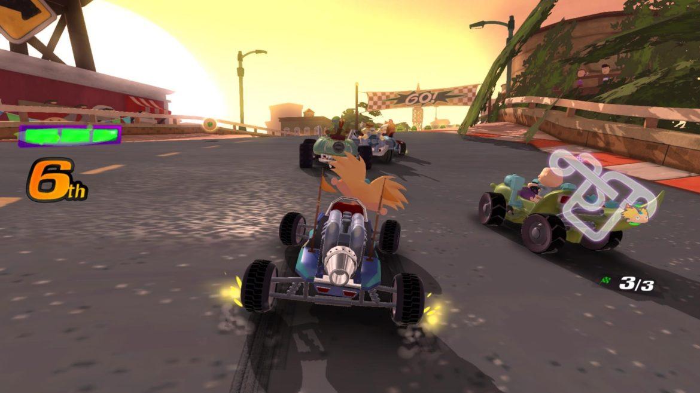 Nickelodeon Kart Racers -hey Arnold dans un kart