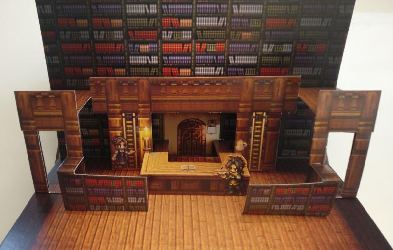 Octopath Traveler - Edition Trésors du Voyageur - diorama érudit