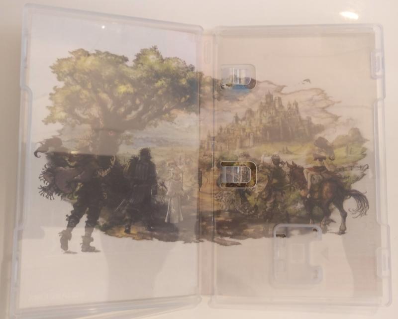 Octopath Traveler - Edition Trésors du Voyageur - intérieur boitier