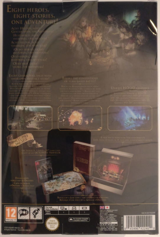 Octopath Traveler - Edition Trésors du Voyageur - boite base verso