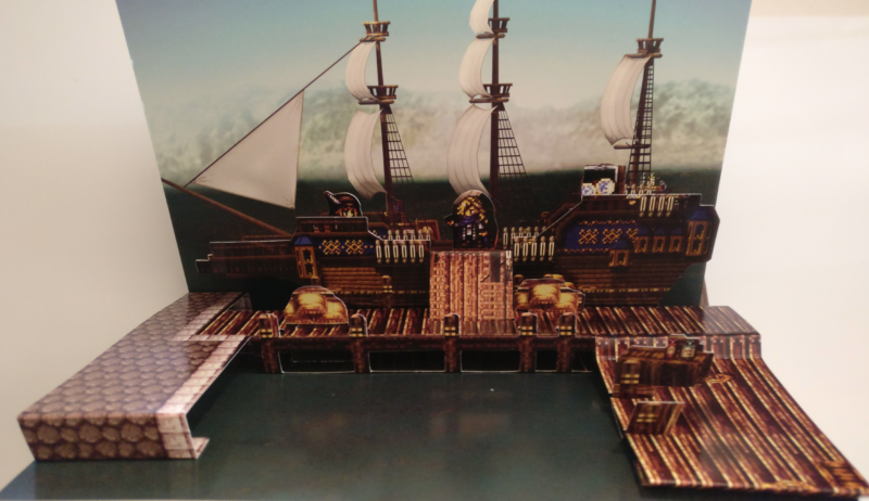 Octopath Traveler - Edition Trésors du Voyageur - diorama marchande