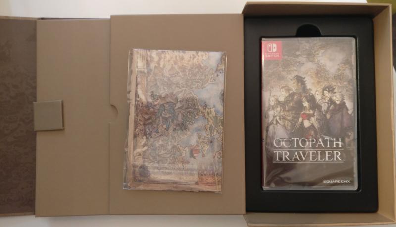 Octopath Traveler - Edition Trésors du Voyageur - jeu et carte