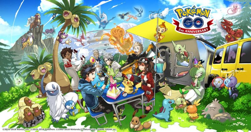 Pokémon GO - 2nd anniversaire
