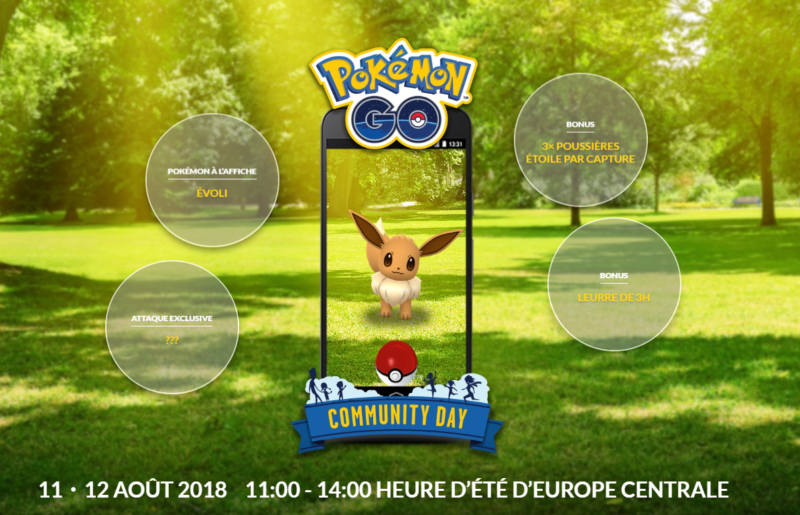 Pokémon GO - Journée Communauté Evoli détails