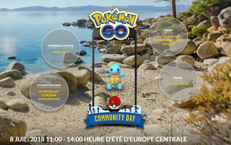 Pokémon Go - Journée de la Communauté - Carapuce