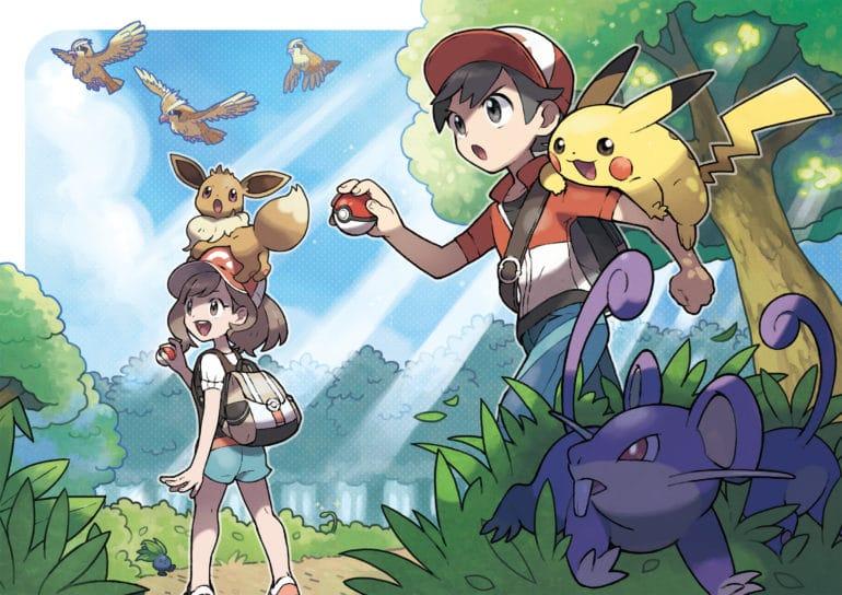 Pokémon: Let's Go, Pikachu ! Artwork des dresseurs