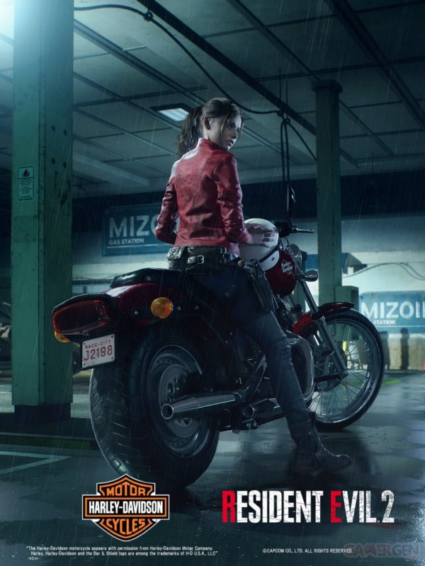 Resident Evil 2 Claire Redfield Moto Harley Davidson