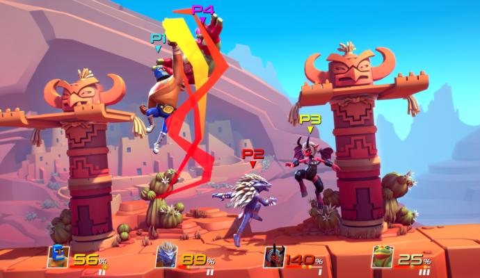 brawlout combat 4 players decor desert