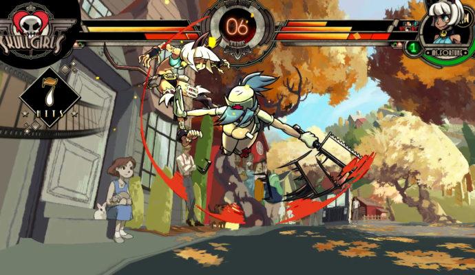 Skullgirls 2nd Encore Combat vue plongeante