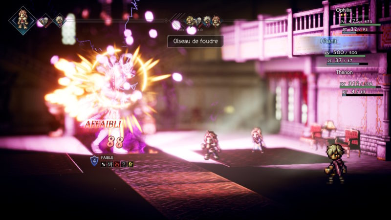 Test Octopath Traveler - combat