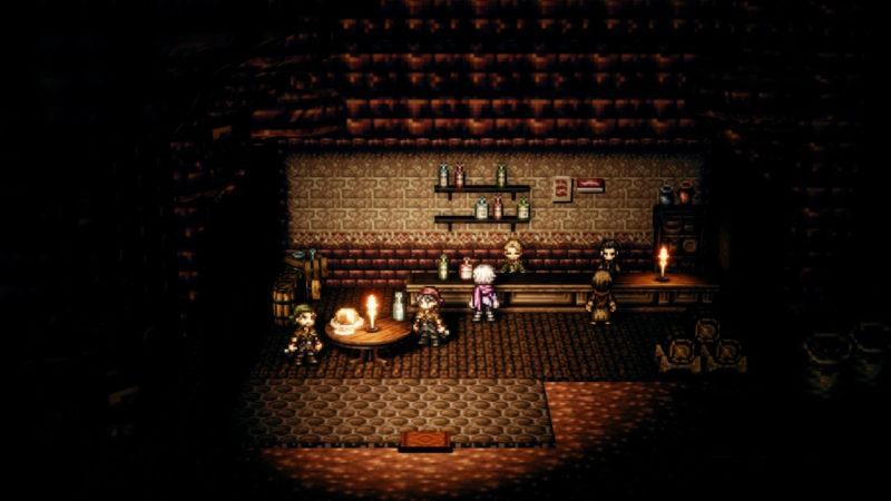 Test Octopath Traveler - taverne