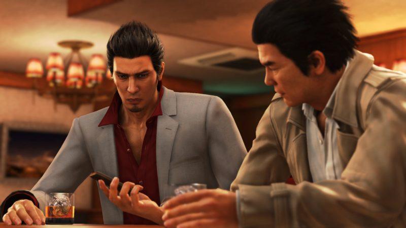 Yakuza boire un coup avec Date-san