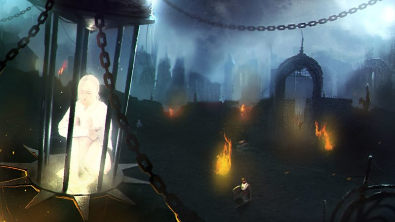 Fall of Light : Darkest Edition - paysage sinistre